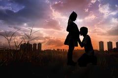 Concept d'amour de couples Photo libre de droits