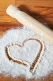 Concept d'amour de cuisson Photographie stock