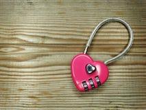 Concept d'amour de jour du ` s de valentine de serrure de forme de coeur Photo libre de droits