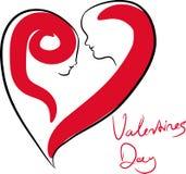 Concept d'amour de jour de Valentines illustration de vecteur