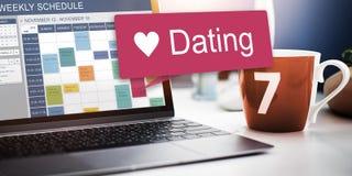 Concept d'amour de mode de vie d'amants de relations de datation Photographie stock
