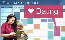 Concept d'amour de mode de vie d'amants de relations de datation Photographie stock libre de droits