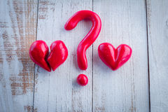 Concept d'amour de question d'amour Image stock