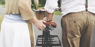 Concept d'amour de relaxation de datation de mari d'épouse de couples Images libres de droits
