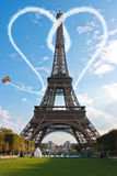 Concept d'amour de Tour Eiffel de Paris Photographie stock