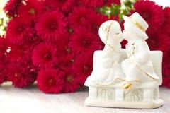 Concept d'amour Enfants s'aimant et des baisers Photo libre de droits