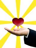 Concept d'amour et de soin Photographie stock libre de droits