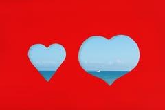 Concept d'amour et de vacances Photos stock