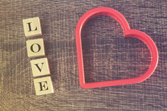 Concept d'amour Fond de jour de valentines Images stock