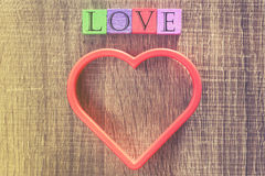 Concept d'amour Fond de jour de valentines Photographie stock