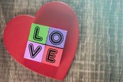Concept d'amour Fond de jour de valentines Images libres de droits
