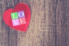 Concept d'amour Fond de jour de valentines Image libre de droits