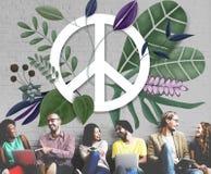 Concept d'amour hippie heureux de paix rétro Image stock