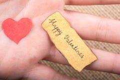 Concept d'amour pour le jour de valentine à disposition Image libre de droits