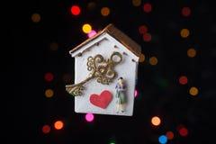 Concept d'amour pour le jour de valentine sur la maison Photo stock