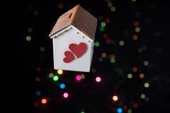Concept d'amour pour le jour de valentine sur la maison Photos libres de droits