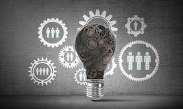 Concept d'ampoule comme symbole de nouvelle idée Photographie stock