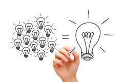 Concept d'ampoules de travail d'équipe Photos libres de droits
