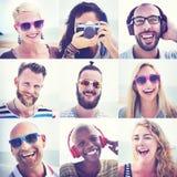 Concept d'amusement d'unité de portrait d'amitié d'amis Images stock