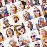 Concept d'amusement d'unité de portrait d'amitié d'amis Photographie stock libre de droits
