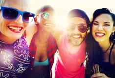 Concept d'amusement d'unité de vacances d'amitié d'amis Image libre de droits