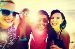 Concept d'amusement d'unité de vacances d'amitié d'amis Photos stock