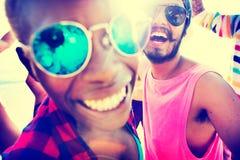 Concept d'amusement d'unité de vacances d'amitié d'amis Photographie stock