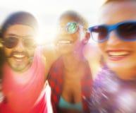 Concept d'amusement d'unité de vacances d'amitié d'amis Photo stock