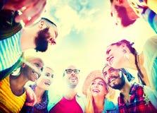 Concept d'amusement d'unité de vacances de loisirs d'amitié d'amis Photos libres de droits