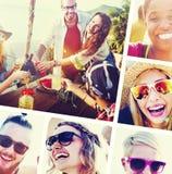 Concept d'amusement d'unité de vacances de loisirs d'amitié d'amis Photo stock