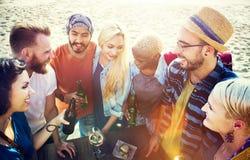 Concept d'amusement d'unité de vacances de loisirs d'amitié d'amis Images libres de droits