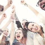 Concept d'amusement d'unité de vacances de loisirs d'amitié d'amis Images stock