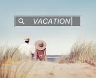 Concept d'amusement de bonheur de voyage de loisirs de vacances de vacances Photos libres de droits