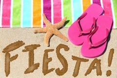 Concept d'amusement de voyage de fiesta de partie de plage Images libres de droits