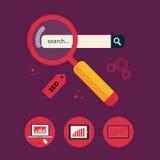 Concept d'analyse d'analytics de site Web et de données de SEO illustration de vecteur