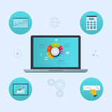 Concept d'analyse d'analytics de site Web et de données de SEO illustration stock