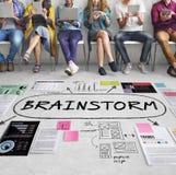 Concept d'analyse d'idées d'inspiration d'échange d'idées Photos libres de droits