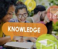 Concept d'analyse de carrière d'éducation de puissance de la connaissance Image libre de droits