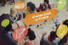 Concept d'analyse de carrière d'éducation de puissance de la connaissance Photographie stock