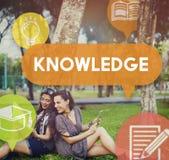 Concept d'analyse de carrière d'éducation de puissance de la connaissance Photos stock