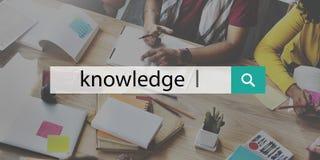 Concept d'analyse de carrière d'éducation de puissance de la connaissance Photo libre de droits