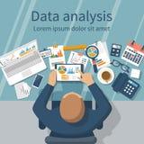 Concept d'analyse de données Photographie stock libre de droits