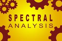 Concept d'analyse spectrale illustration libre de droits