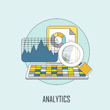 Concept d'Analytics Image stock