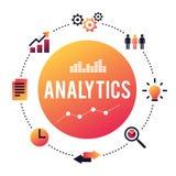 Concept d'analytics d'affaires Photos stock