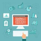 Concept d'analytics de données de vecteur dans le style plat Image stock