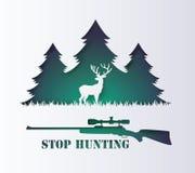 Concept d'animal de chasse d'arrêt illustration libre de droits