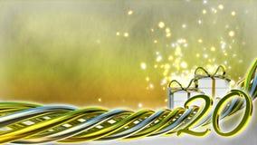 Concept d'anniversaire avec des cadeaux et des étincelles Image libre de droits