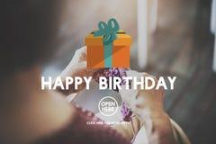 Concept d'anniversaire d'occasion d'événement de joyeux anniversaire Image stock