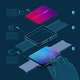 Concept d'application de montre Images libres de droits